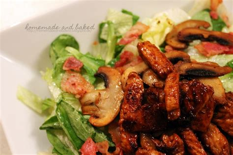 homemade and baked Food-Blog: Salat mit Champignons, Bacon