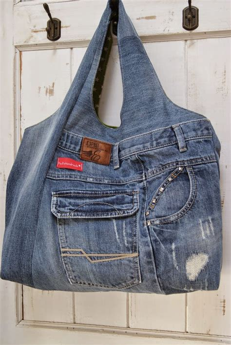 Tasche aus alter Jeans / Bag made from old pair of jeans