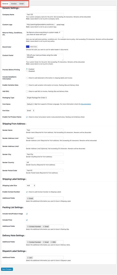 WooCommerce PDF Invoice, Packing Slip, Label, Delivery