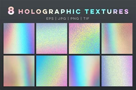 8 holographic textures and templates | Texture graphic