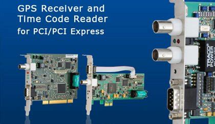 Meinberg PCI and PCIe Slot Cards