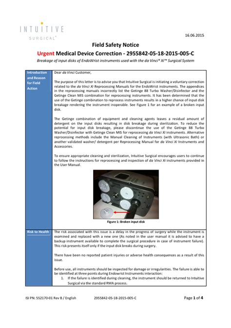 Intuitive Surgical da Vinci System - 12 related documents