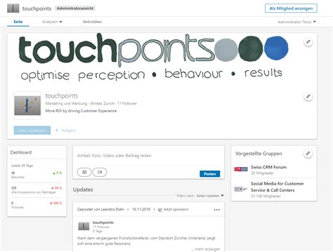LINKEDIN - touchpoints