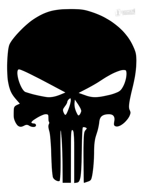 Punisher Skull Stencil (With images) | Skull decal