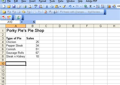 How to Create a Pie Chart in Microsoft Excel 2003
