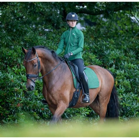 Buy Le Mieux Hunter Green Suede Saddle Pads | Online for