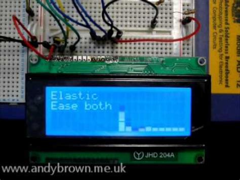 Arduino animation using easing functions - YouTube