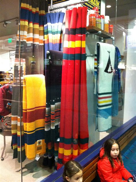 Pendleton blankets as curtains   Fabric   Dining room