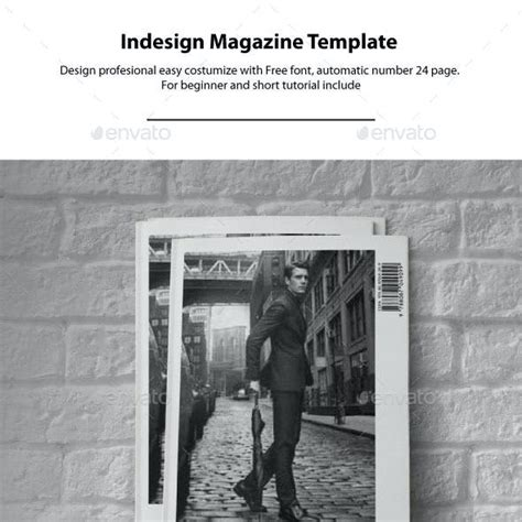 InDesign Magazine Template Layout Graphics, Designs
