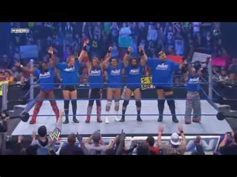 Team RAW vs Team Smackdown (with Finishers) - YouTube