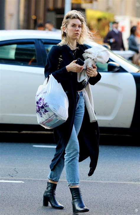 Vanessa Kirby in a Blue Jeans Was Seen Out in New York