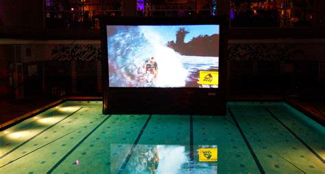 Water no problem for inflatable outdoor screens   Outdoor