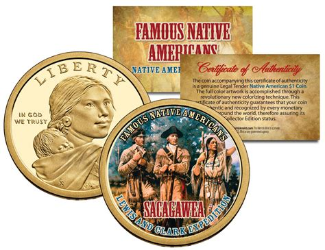 SACAGAWEA *Famous Native Americans* Dollar US Coin LEWIS