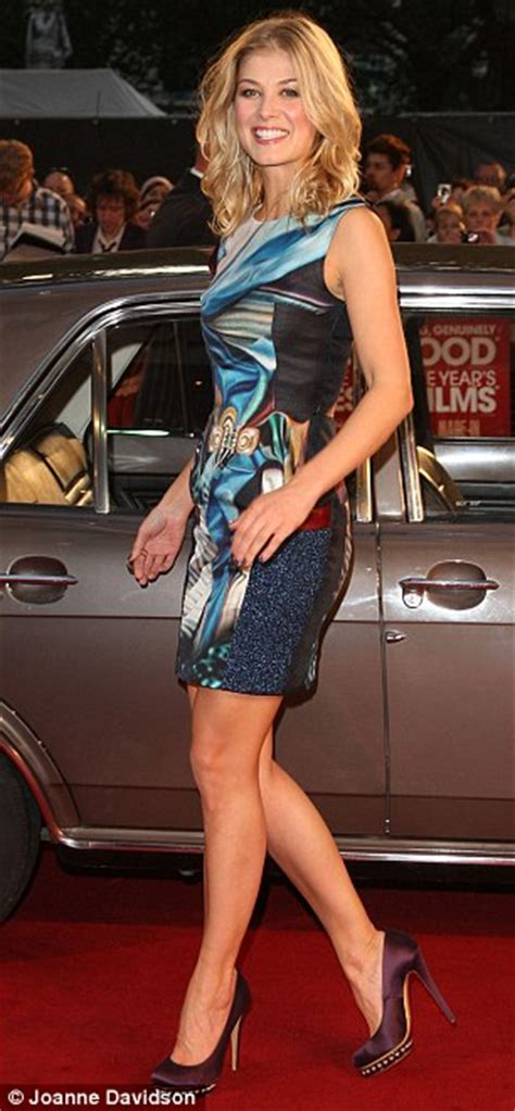 Made In Dagenham afterparty: Rosamund Pike dances with