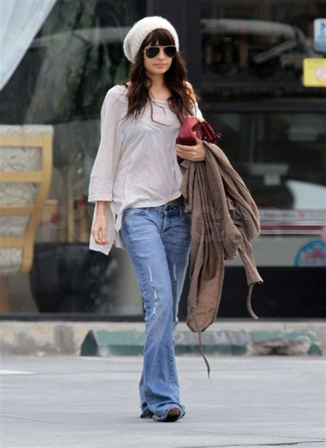 Photos of Nicole Richie in Flare Jeans Walking to Her Car