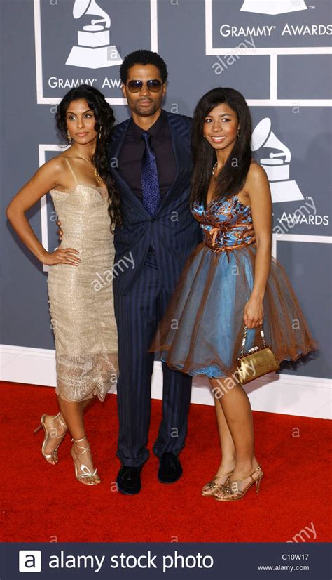Eric Benet with his daughter India and Manuela Testolini