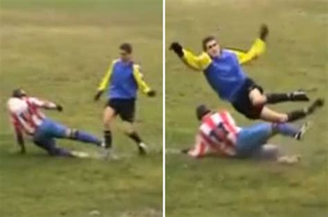 WATCH: The HORRIFIC Sunday League tackle that could be the