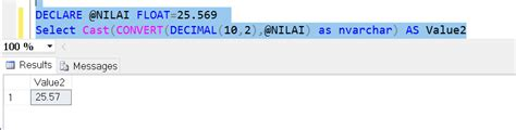 Write a number with two decimal places SQL server - Stack