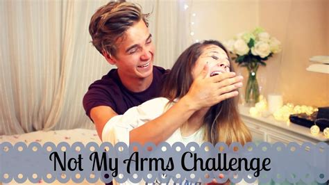 Not My Arms Challenge With My Brother   Zoella - YouTube