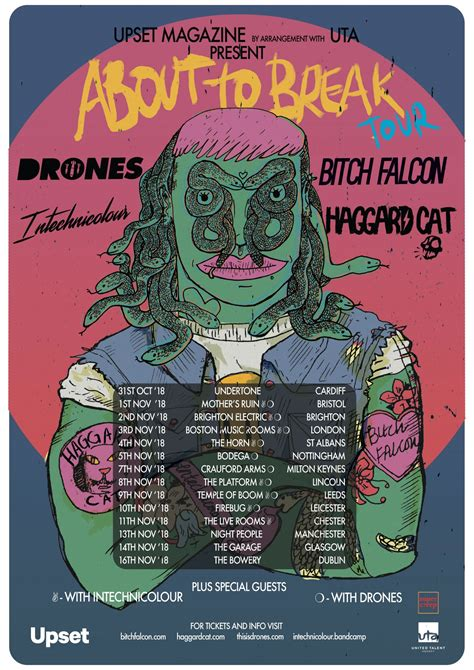 We're hitting the road with the About To Break Tour - grab
