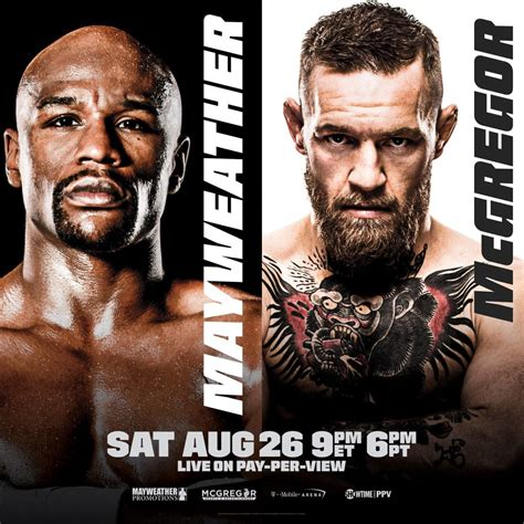 Showtime boxing tweets Mayweather vs McGregor official