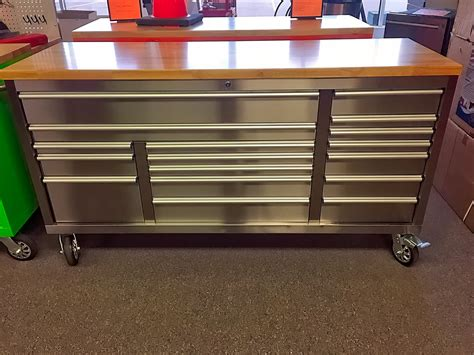 72″ X 24″ X 39″ FAT BOY 17 DRAWER TOOL BENCHES STAINLESS
