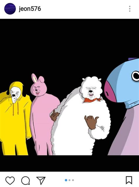 Jungkook`s Brother Once Remade BT21 Characters and They`re