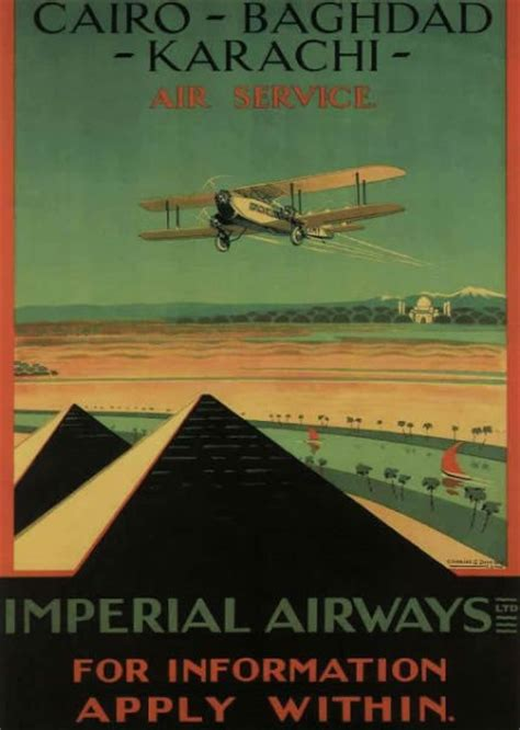 Vintage British aviation posters from the 1920-1930s